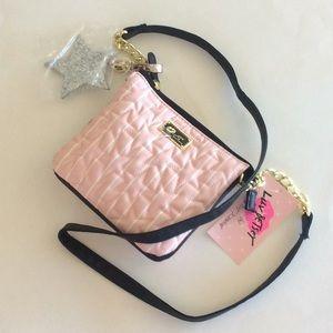 Betsey Johnson small pink crossbody bag